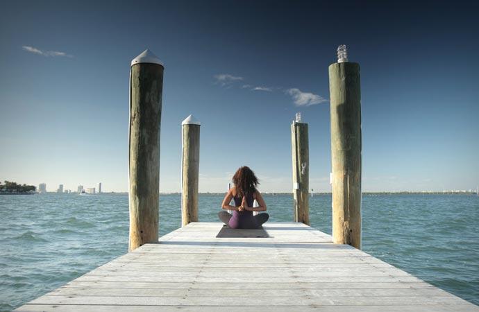 Yoga at The Standard Spa Hotel in Miami Beach