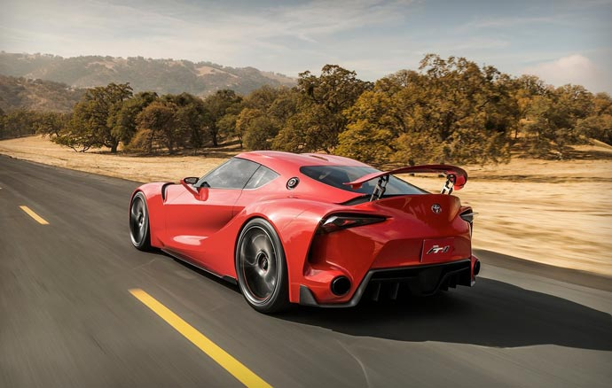 Rear view of the TOYOTA FT-1 Concept car