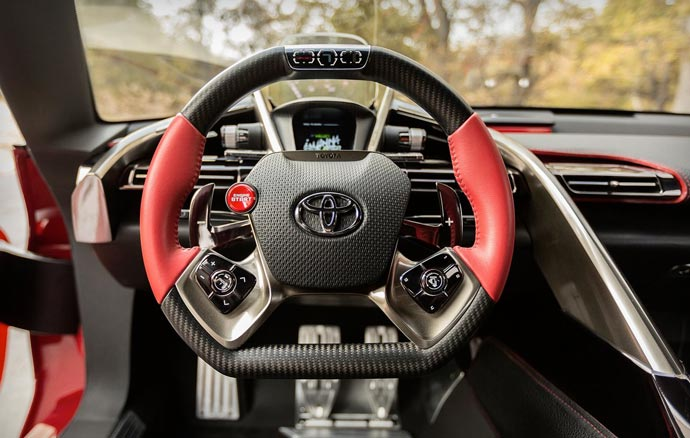 Inside the TOYOTA FT-1 Concept car