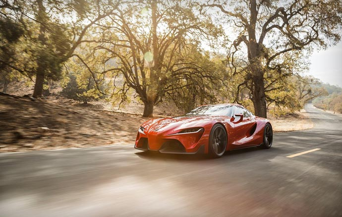 TOYOTA FT-1 Concept car on the road
