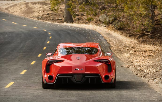 rear view of the TOYOTA FT-1