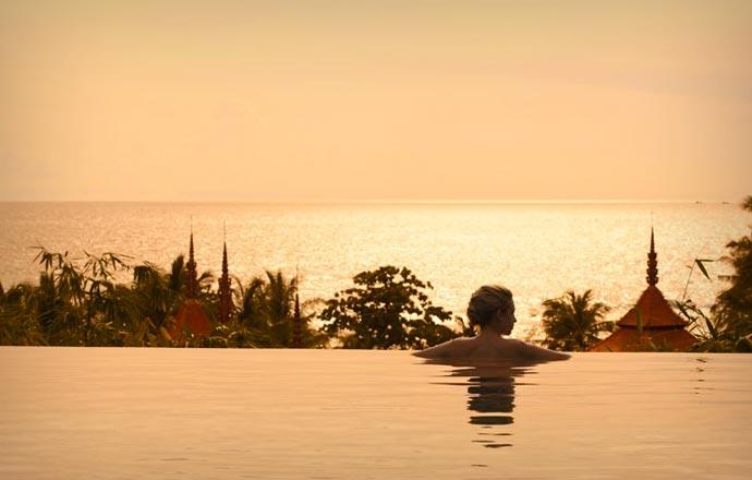 Infinity pool at Trisara Resort in Phuket