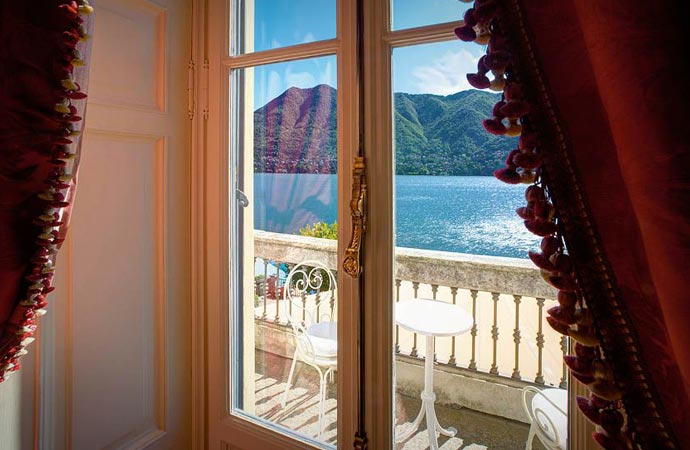View from a room at Villa D'Este in Lake Como