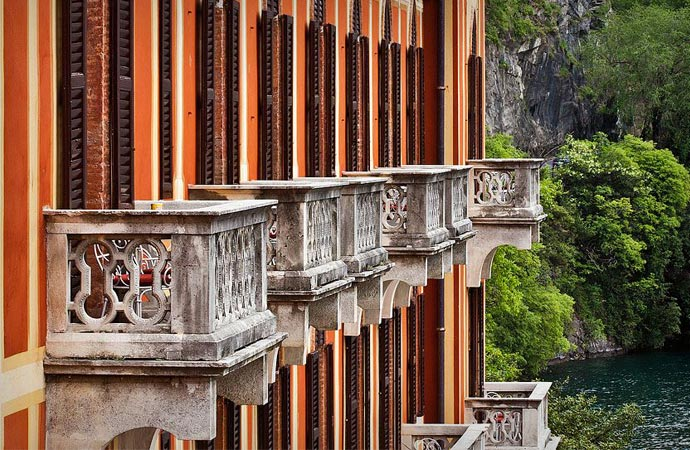 Balconies at Villa D'Este in Lake Como