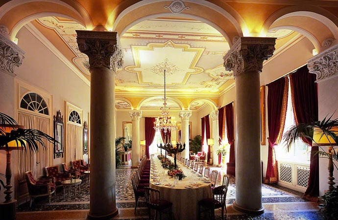 Interior design at Villa D'Este in Lake Como