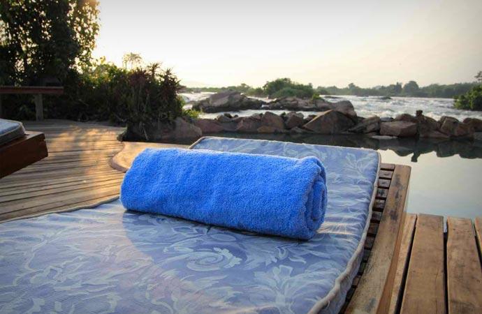Pool at Wildwaters Lodge in Uganda