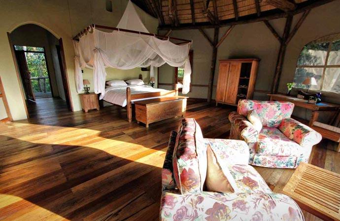 Room at Wildwaters Lodge in Uganda