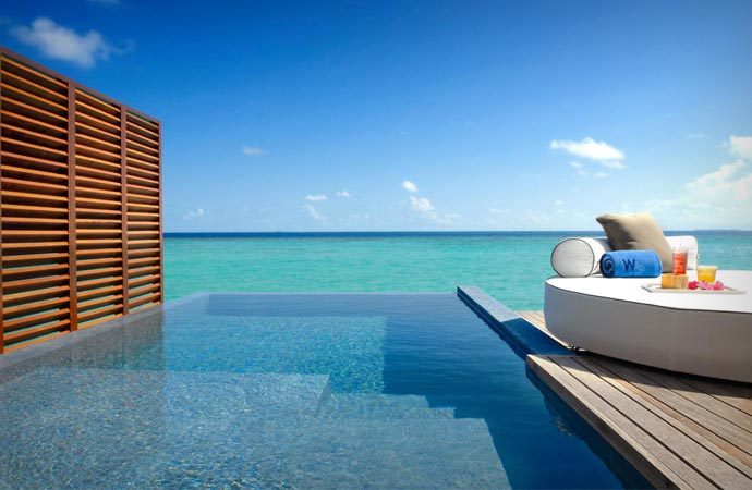 Infinity Pool at W Retreat & Spa Maldives