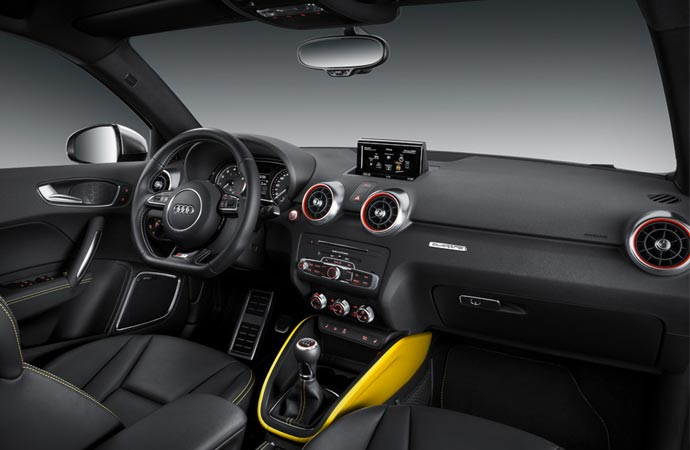 Interior of the 2015 Audi S1 Quattro