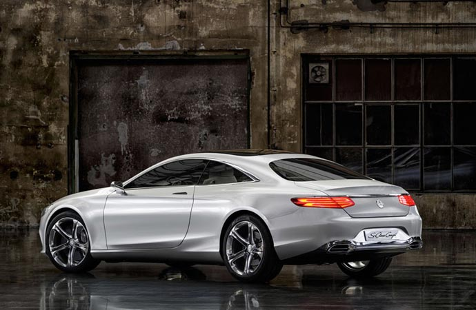 Rear of the 2015 S-Class coupe