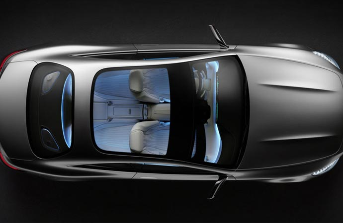 2015 S-Class coupe top view