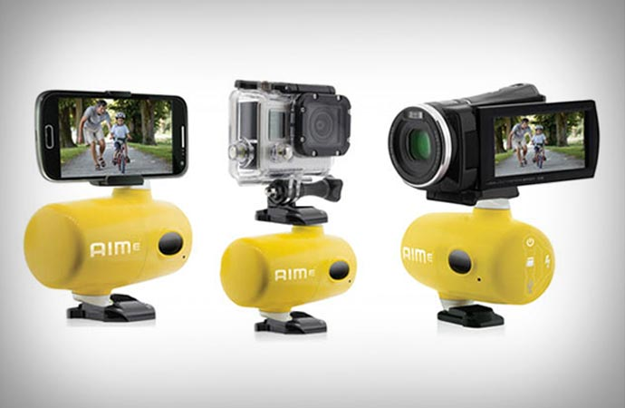 Aime auto-tracking camera mount