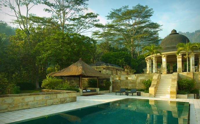 Spa and pool at Amanjiwo Aman Resorts