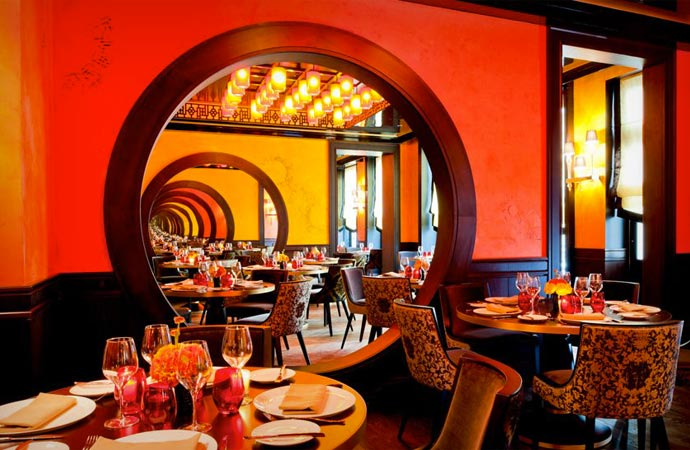 Restaurant at Buddha Bar Hotel Paris