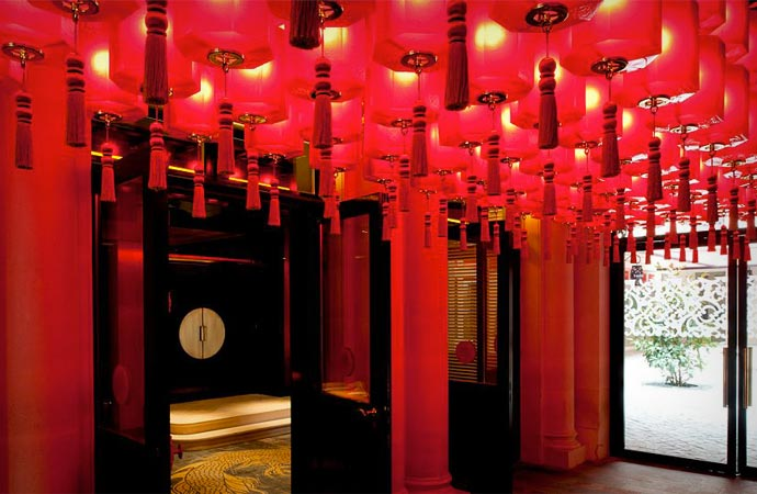 Lobby at Buddha Bar Hotel Paris