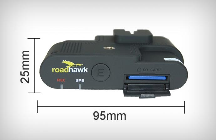 Dimensions of the Timetec dash cam