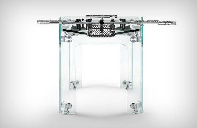 Glass foosball table