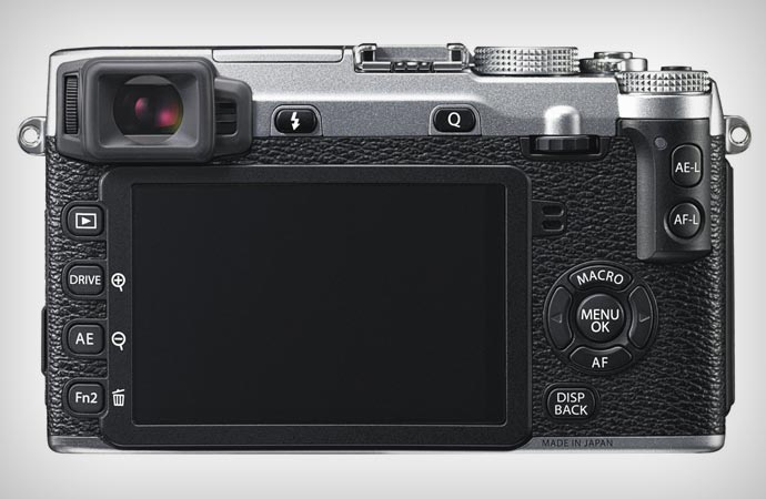 Screen of the Fujifilm X-E2