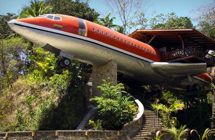 Hotel Costa Verde 727 Fuselage in Costa Rica