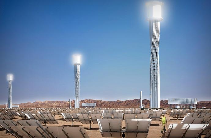 Ivanpah Solar Power Plant mirrors
