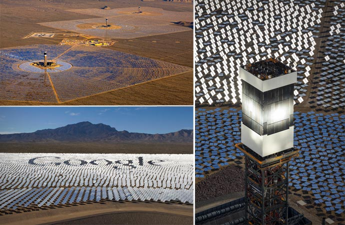 Ivanpah Solar Power Plant with collaboration with Google