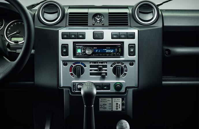 Land Rover Defender Silver Pack Interior