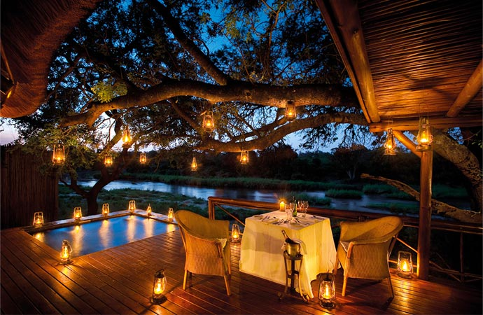 Dining at Lion Sands in South Africa