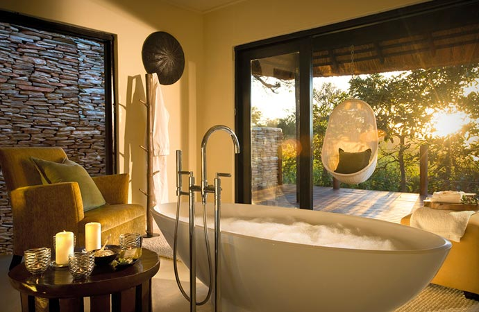 Bath at Lion Sands in South Africa