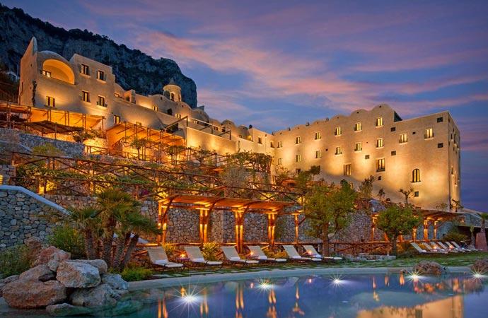 Restaurant at Monastero Santa Rosa Hotel at Amalfi Coast