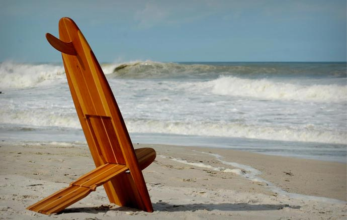 Surfboard chairs by Bombwatchers