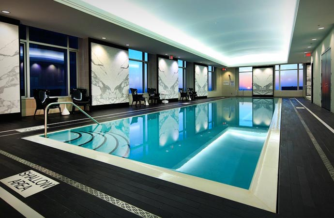 Swimming pool at the Trump Tower and Hotel in Toronto