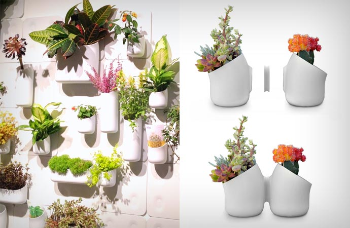 Wall planters by Urbio
