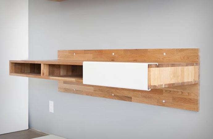 Wall Mounted Desk by Mashstudios