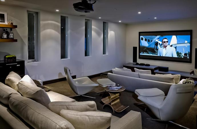 Entertainment center at Avicii's house