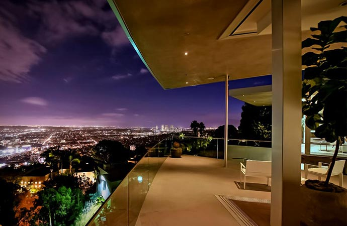 View from Avicii's house in Los Angeles