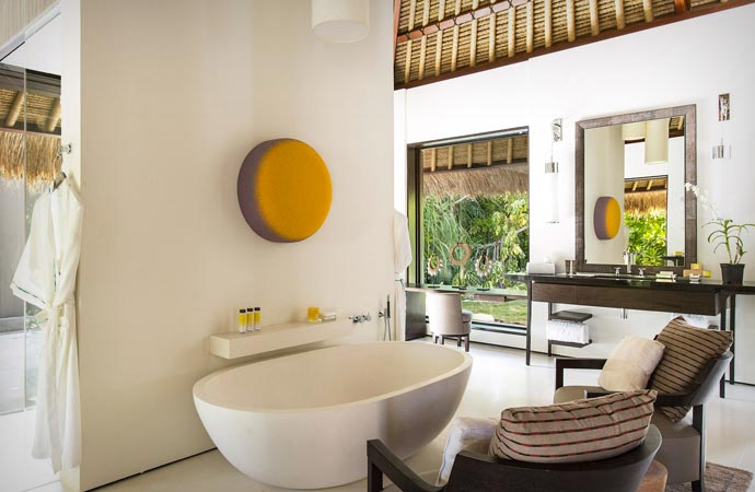 Bath at the Cheval Blanc in the Maldives