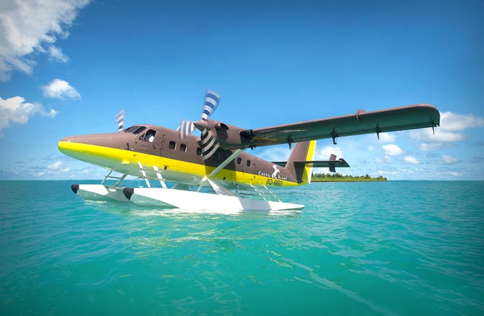 Sea plane in the Maldives