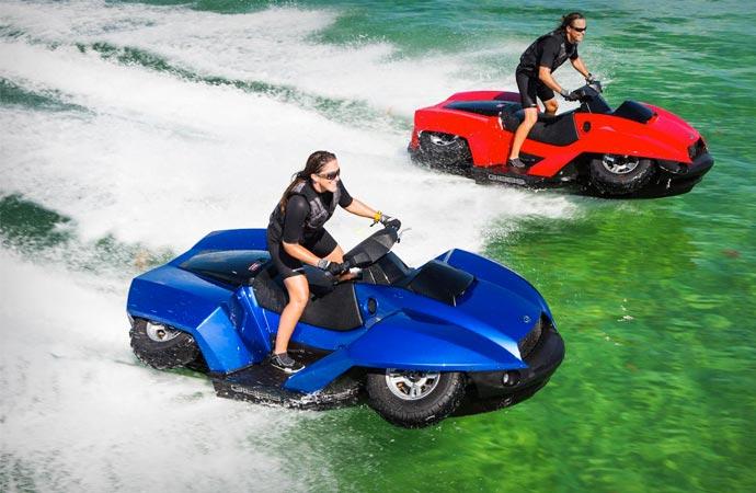 Amphibious ATV