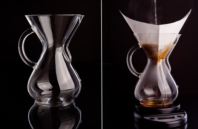 Glass coffee maker by Chemex