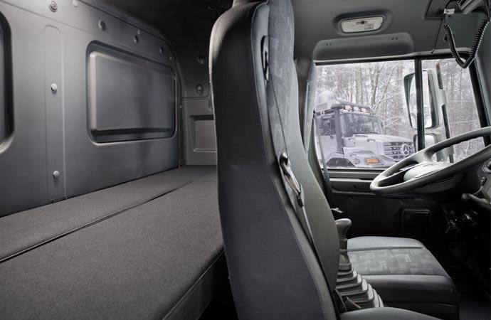 Mercedes-Benz Zetros driver seat cockpit