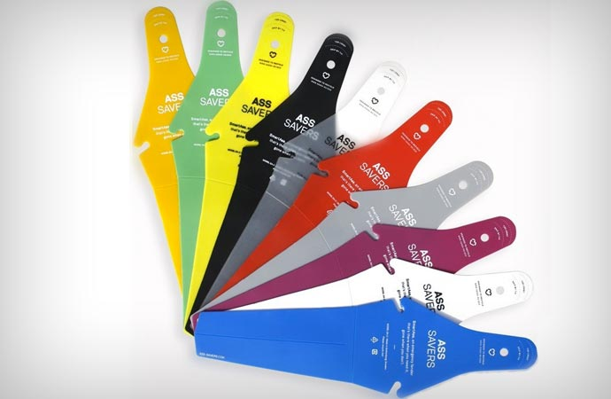 Colorful bicycle mudguards
