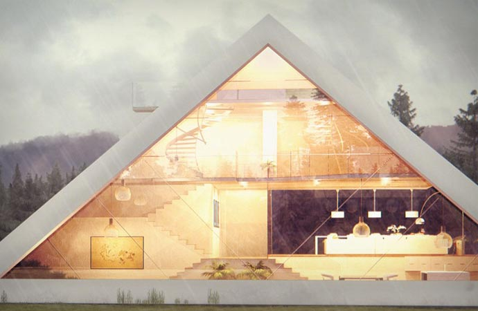 Pyramid house design