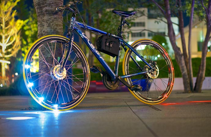 Bike lighting system using LED