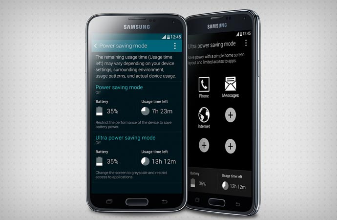 Samsung Galaxy S5 power saving mode feature