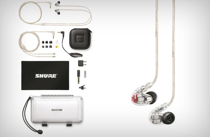 Shure SE846 earphone and accessories