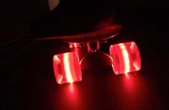 LED lighted skateboard