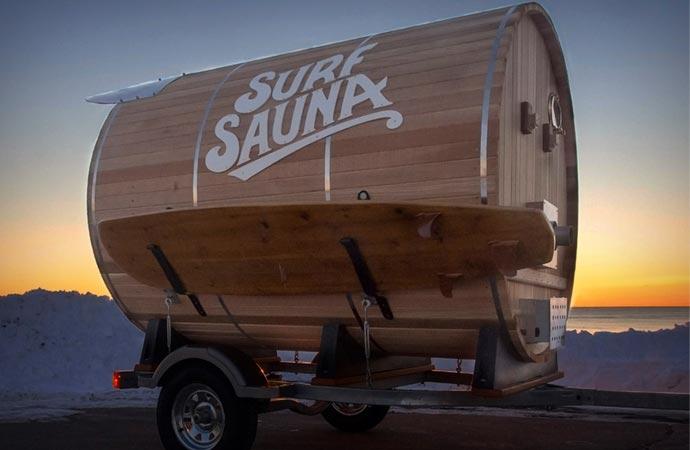 Surf sauna exterior