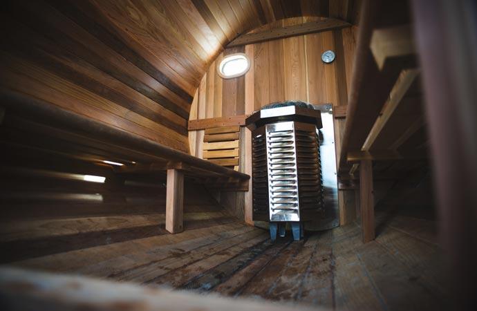 Surf sauna heater