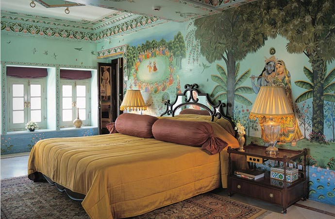 Room at the Taj Lake Palace