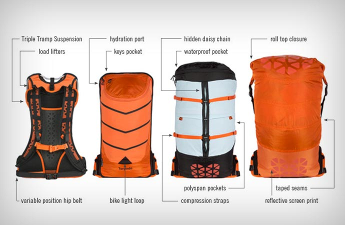 Features of the Boreas Bootlegger backpack